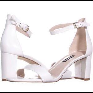 Nine West Ankle Strap Block Heel Sandals